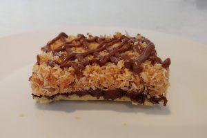 Ooey Gooey Chewy Coconut Carmel Bars